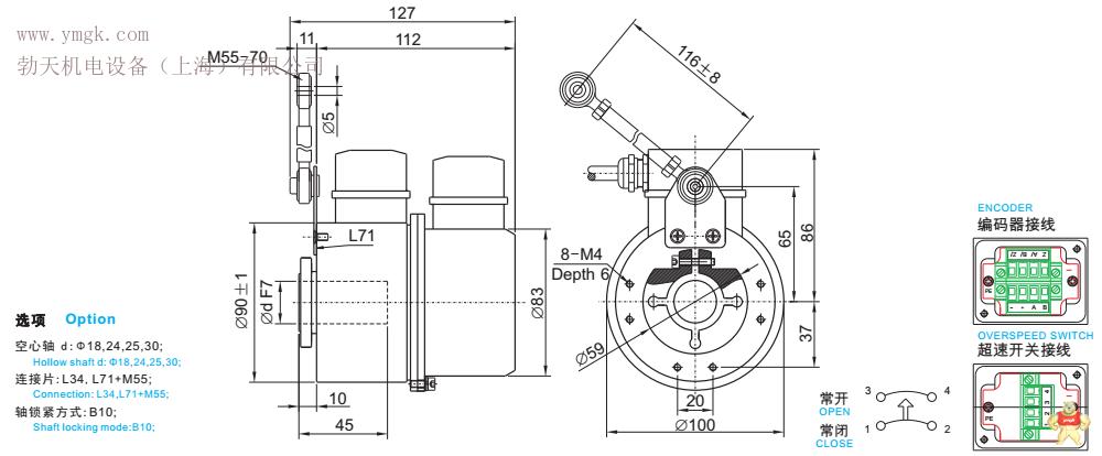 单圈4-20ma信号编码器 多圈rs485-rtu并行信号编码器 ssi同步串行编码
