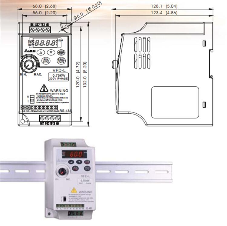 全新原装台达变频器vfd002l21a多功能简单型,单相输入