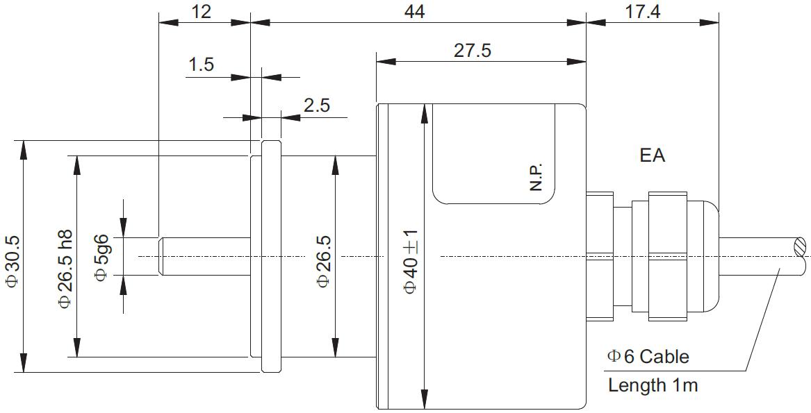 30vdc 输出电路 htl/推挽输出,ttl/rs422,电压输出,电流输出 输出信号