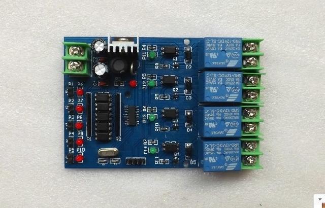 单片机控制 四路继电器模块 延时 定时 信号触发 plc