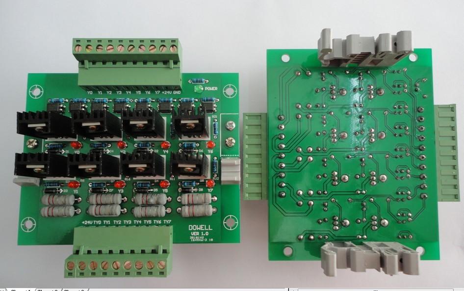 台达plc放大板/功率板/保护板/晶体管板/输出板/光耦隔离/io板8路 ntr