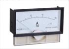 电力仪表厂家高低压电器59C23-A 卡式安装直流电流指针式表 128*68