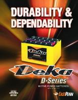 美国DEKA德克蓄电池8A8D-DEKA电池12V245AH 纯进口电池