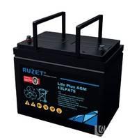 法国路盛蓄电池12LPA75现货路盛免维护蓄电池12v75AH原厂包装包邮