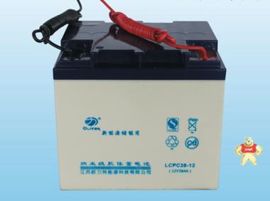 欧力特12V38AH 路灯用 UPS风光系统储能电源密封免维护胶体蓄电池