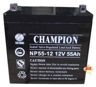 冠军蓄电池NP55-12 12V55Ah【易卖工控推荐卖家】