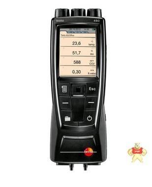 testo 480多功能测量仪管道风速K温湿度压差压力CO2光照WBGT指数