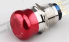 厂家推荐 19MM不锈钢 球面 箭头指示 金属急停按钮/西普开关