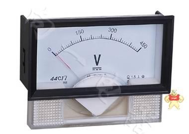 高精度44C17-V指针安装式DC直角90℃电压测量仪表3kV/1mA