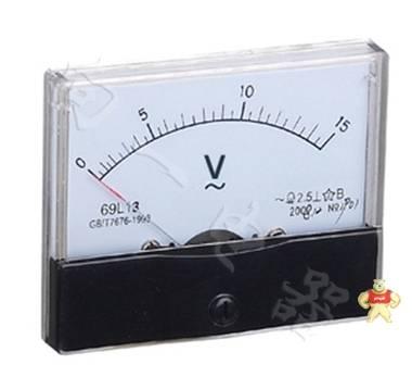 标准69L13指针安装式方形直角90℃电压测量仪表80×65