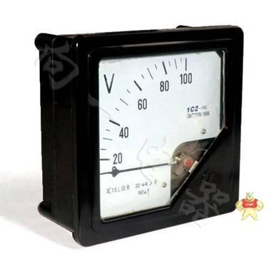 厂家直销1C2指针安装式直流直角九十度伏特计160160