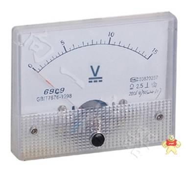 专业仪表69C9-V指针安装式方形外形90℃伏特测量仪表80*65