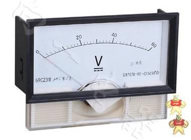 电力仪表厂家59C23-V指针安装式DC直角90℃伏特测量仪表125 68