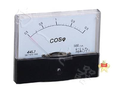 专业仪表44L1-COS方形尺寸直角单相功率因数表选型手册