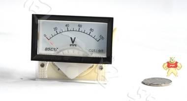 电力配电用85C17-V指针安装式方形直角90℃伏特测量仪表分类