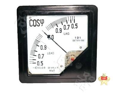 低压配电用1T1-COS指针式方形开孔直角相位测量表种类