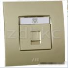 ABB 开关插座 由艺香槟金一位电话插座RJ11 AU32144-PGPG