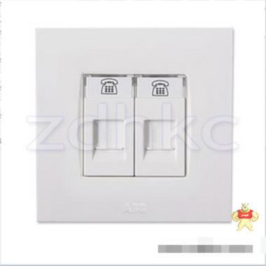 ABB 开关插座 由艺二位电话插座RJ11 AU32244-WW