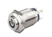 西普按钮 MP16S/F2J-EDY金属按钮 16MM四脚自复式 防水按钮