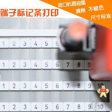 魏德米勒标记条打印 DEK5/6/6.5/8端子 标识条印字 可定制内容