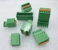 KF DG HY对接接线端子配按键式母端直/弯针配母端 2P-12P