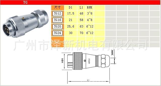 AF防水插座.航空插头插座低价促销 航空插头插座,AOPULO连接器,电源接插件,防水插头,澳普龙连接器