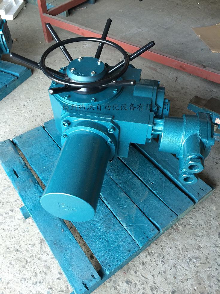 扬州多回转机电一体化开关型电动执行器DZW15-18/Z 多回转电动头,智能一体化,红外线遥控,免开盖调试,一体化电动头