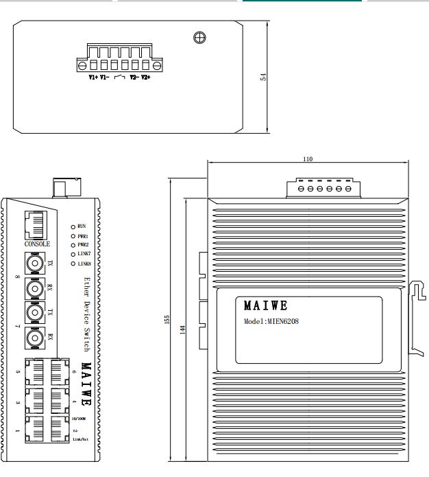 MIEN6208-4S-SC20-DC24 8口百兆网管型卡轨式以太网交换机 MIEN6208-4S-SC20-DC24,MIEN6208-4S-SC20,MIEN6208,迈威交换机,迈威工业交换机