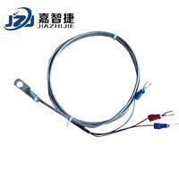 嘉智捷 JZJ-3002 Pt100温度传感器 表面端面热电偶 冷压鼻探头 圆孔测温探头 工业 智能 厂家