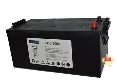 德国阳光A412/200A胶体阳光蓄电池,F10端子12v200AH现货包邮