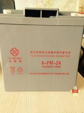 太阳神蓄电池 12V24AH 免维护铅酸蓄电池 6FM-24 UPS蓄电池 包邮