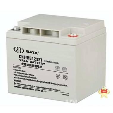厂家直销 鸿贝蓄电池12V38AH 鸿贝蓄电池FM/BB1238 原装正品