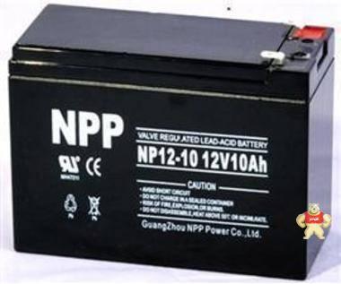 耐普蓄电池NPP NP10-12 12V10AH 耐普铅酸免维护蓄电池特价销售