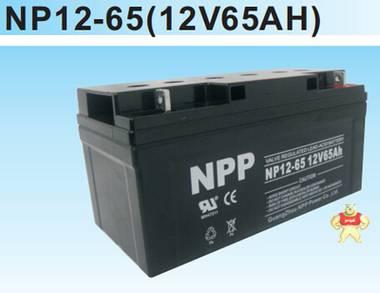 耐普蓄电池NPP NP12-65 12V65AH 耐普铅酸免维护蓄电池特价销售