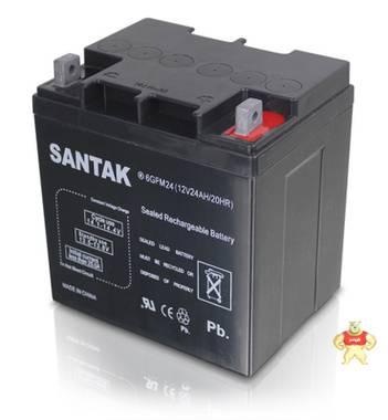 山特蓄电池SANTAK蓄电池6GFM24(12V24AH/20HR)现货供应