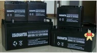 美国山特12V120AH太阳能源免维护铅酸蓄电池UPS专用电瓶