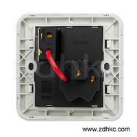 ABB 开关插座 德静空调插座16A一开三孔带灯AJ236