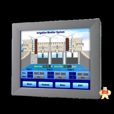 研华工业显示器FPM-2150G/15寸全铝面板壁挂VESA等安装方式触摸屏