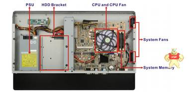 台湾威强电21.5寸工业平板电脑PPC-F22A-H81支持I3/I5/I7 cpu