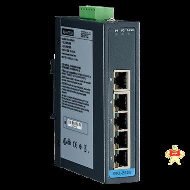 研华advantech5端口非网管型工业以太网交换机EKI-2525正品