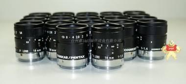"COSMICAR/PENTAX 16mm 1:1.4 CCTV工业定焦镜头 2/3"""