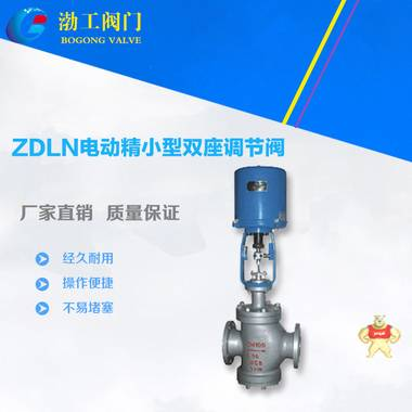 直销ZDLN电动精小型双座调节阀 电动双座调节阀 优质电动调节阀