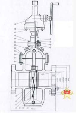 厂家直销KZ544Y型 抗硫膨胀式平板闸阀质量优质
